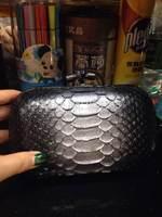 free shipping luxury 100% genuine leather women clutch handbags brand Snake Print evening bag BSY0010