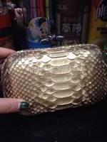 free shipping luxury high quality 100% genuine leather brand  Snake Print lady handbag BSY0014