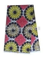 Very beautiful!!guaranteed qualtiy !hollandais wax fabric real wax African printed fabric 100% cotton  24007