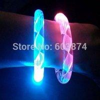 Free Shipping Fluorescence Stick / Electronic LED flash Bracelet / Light-emitting bracelet
