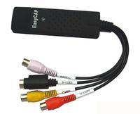 USB 2.0 Easycap dc60 tv dvd vhs video adapter capture card Audio AV Capture support Win Xp/ win 7/ Vista 32 Free shipping