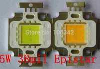 Free Shipping 38mil Epistar Chip 5Watt High Power LED 4*1 350-400lm 12V 300mA 5pcs/lot