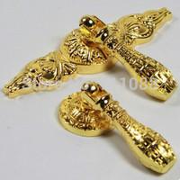 New arrival single hole European antique cabinet drawer wardrobe door handle  modern Chinese imitation gold handle lt-5558