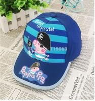 6pcs/lot Kids  New Summer peppa pig George Pig  Hats Baseball Caps  Boys Hats Children Hat Baseball Caps Wholesale