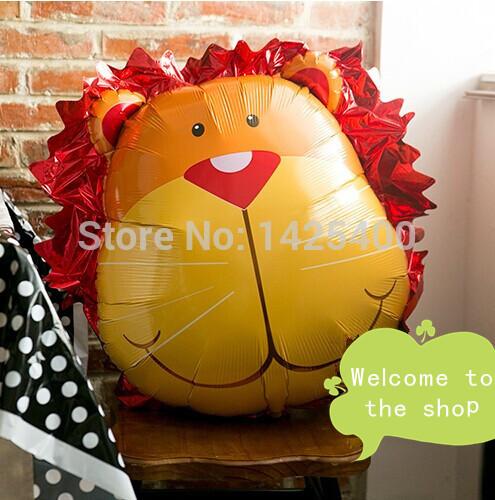 Grátis frete importado alumínio balões festa de aniversário decoração de casamento balões brinquedos das crianças por atacado grande cabeça de leão(China (Mainland))