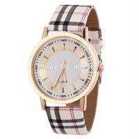 relogio feminino Fashion Grid Stripe Watch Women Gold Pointer Ladies Leather Watches ga100 Quartz Wristwatch