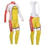 2014 Winter Fleece Thermal Sohoku Cycling Clothing Long Sleeve Cycling Wear Bib Pants ropa ciclismo maillot For Road Bike MN02