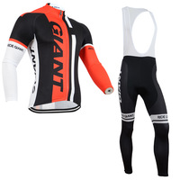 2014 Winter Fleece Thermal Cycling Clothing Cyling Long Sleeve Jersey Cycling Wear Bib Pants ropa ciclismo maillot  MN01