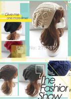 Korean woolen hat New 2014 Winter hats women Woolen knitted hat Beanie Crochet Warm Winter Hat Ski Cap Wool Knitted caps