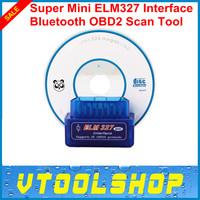 Super mini ELM 327,mini 327 bluetooth,elm327 works on Android Torque super Professtinal OBD II obd 2 Scanner tool+free shipping