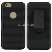 """A17 4.7"""" New Black Hard Case Cover Shell With Belt Clip Holster For iPhone 6  CN166 P"""