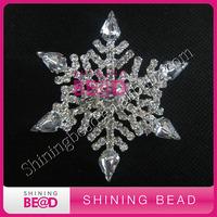 flat back,snowflat clear rhinestone brooch embellishment,free shipping,christmas decoraion
