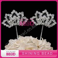 fashion clear rhinestone cake topper,wedding party decor,free shpping,high quality