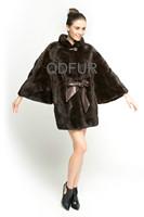 2014 Winter Fashion Ladies' Luxury Genuine Mink Fur Coat Jacket Female Fur Outerwear Garment Detachable Sleeve QD70821