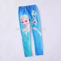 Wholesale - Hot sale Frozen Leggings Fashion Elsa&Anna Printed Fall Cotton Girls Leggings Baby Kids Children Pants 2-6 years old