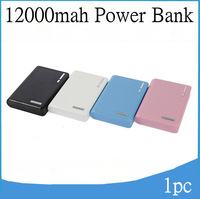 Wallet Style Portable Dual USB Power Bank 12000mah External Battery Charger External Battery Pack For mobile phone,1pc Free ship