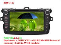 Toyota Corolla 2008 2009 2010 2011 2 Din car dvd player Android car multimedia autoradio gps navigation with USB/SD,BT,RDS,APE