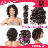 6A brazilian virgin hair water wave hair 3pcs lot natural black, cheap human hair weave bundles wet and wavy brazilian hair weft