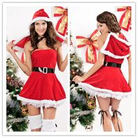 Apparel Party sexy santa costume North Pole Mini cosplay women Christmas Costumes B6029CF
