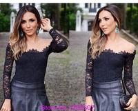 2014 new women shoulder gauze hollow flower Duolei Si-sleeved shirt