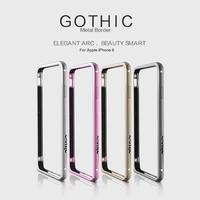 1pcs original Nillkin Brand high quality metal Aluminum bumper frame for Apple iPhone 6 4.7 inch bumper with retail box