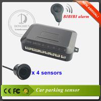 Car parking sensor with 4 backup radar with optional color bibibi alarm