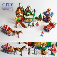 Ausini Building Blocks City Post Office Assembling Blocks Hot Toy for Children Model Building Christmas Gift Free Shipping