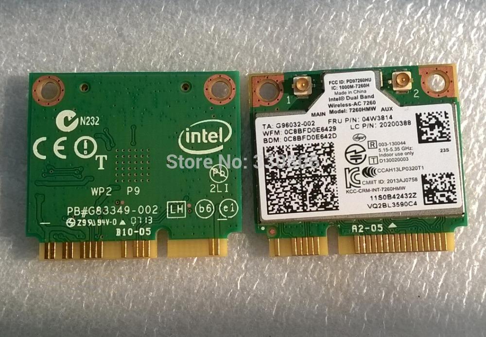 Wireless-N Neue Mini-Karte Intel 7260H-Bn Wifi Bluetooth 4.0 yr