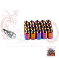 KYLIN STORE --- Max Guard Lug Nuts Racing  33mm  MG LUG NUTS 12X1.5 OR 12X1.25 NEO CHROME COLOR