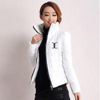 Parkas 2014 Winter Short Jacket Women Thickening Cotton Coats Slim Down Parkas for Women plus size Overcoat WC0320