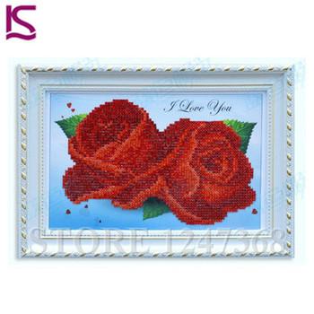 Сделай сам алмаз живопись любители 5D строчки алмазная вышивка горный хрусталь декор дома 30 * 21 см 4 цветов