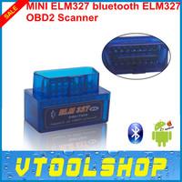 Top 2014 SUPER MINI ELM327 Bluetooth OBD II V1.5 Smart Car Diagnostic Interface ELM 327 Wireless Scan Tool+Free Shipping