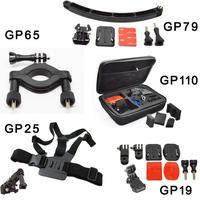 Go pro accessories set 5 in 1 bike mount,go pro case,go pro chest mount,Helmet Front Mount for GoPro Hero4/3+/3/2/1