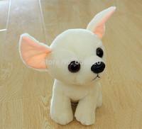 Wholesale Kawaii White little dog plush toys soft mini animal dolls 19cm Sweet puppy dog for baby toy 2pcs/lot Free shipping