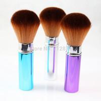 Professional Powder Brush Soft Synthetic Hair Retractable Face Blush Powder Makeup Brush 5pcs/lot