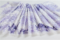 organza embroidery lace material light purple soluble europe and america new specials offer dobby net fabric breathable