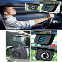 Solar Sun Power Car Window Fan Auto Ventilator Cooler Air Vehicle Radiator vent With Rubber Stripping car ventilation fan