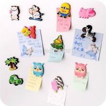 5 stück/lot kreative cartoon tiere magnete kleine silikongel kühlschrank magneten starke magnete-magnet(China (Mainland))
