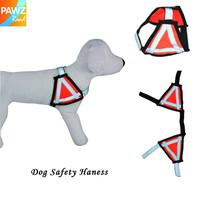 Free Shipping Dog Safety Harness Pet Collar Adjustable Nylon Harness Reflect Light Design Puppy Collar Hot!!!