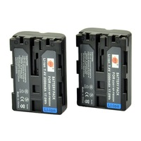 2PCS DSTE NP-FM500H Battery compatible for Sony DSLR-A100H, DSLR-A100K, DSLR-A100K/B, DSLR-A100W, DSLR-A100W/B, DSLR-A200