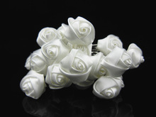 100pcs  Small Silk Rose Flower Hair Pins Wedding Bridal Flowers Accessory Bridesmaids