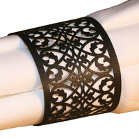 Elegant FILIGREE Wedding Laser Paper Napkin Rings / Lace Holders MANY COLORS