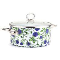 22cm Blue Lover Full Enamel Pot Boil Medicine Pot Free Shipping