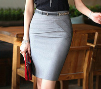 New 2014 Skirts Womens Pencil Skirt Vintage Skirts Female High Waist Long Work Skirt Package Hip Skirts for Woman Black,Grey
