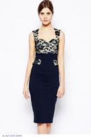Lace Sweetheart Top Peplum Vintage Dress LC6642