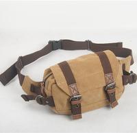new fashion elegant men canvas waist packs,casual small canvas bags 135