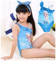 Free shipping New Arrival frozen swim suit,girl swim wear,one piece swimwear,5pcs/lot wholesale