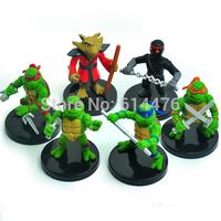Free shipping 50sets/lot Anime Cartoon TMNT Teenage Mutant Ninja Turtles PVC Action Figure Toys Dolls 6pcs/set