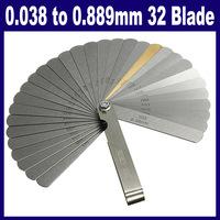 0.038 to 0.889mm 32 Blade Feeler Gauge Thickness Gap Metric Gauge