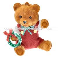 3Pcs./Lot Christmas Tree Little Wreath Bear Hanging Ornaments Xmas Festival Decoration Freeshipping